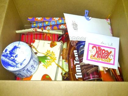 My box of goodies.